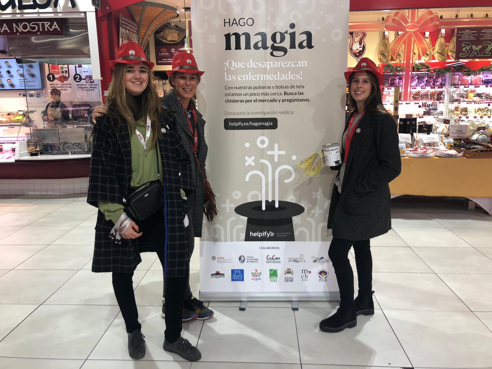 Voluntarias que nos ayudaron en nuestro proyecto Hago Magia. Helpify